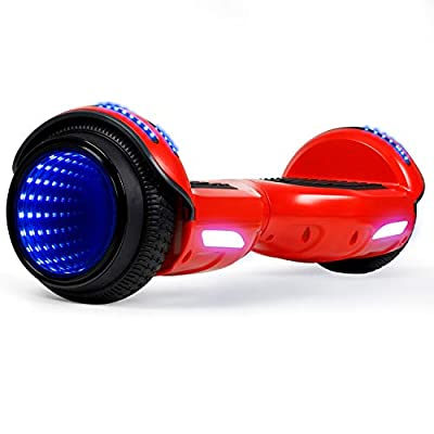 CBD Flash Hoverboard, Two-Wheel 6.5 inch Self Balancing Scooter with Bluetooth Speaker and LED Mirror Wheel for Kids Adults, Orange