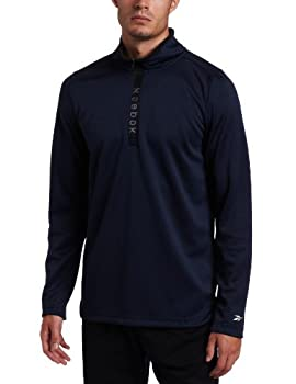 Reebok Men s Rival 1/4 Zip Pull Over,Athletic Navy,XXX-Large