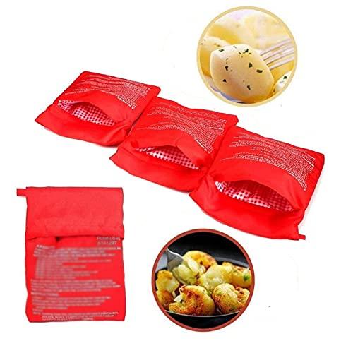 Borsa Per Patate Rosso Borsa Da Cucina Per Patate Patate Strumento Di Cottura Microonde Borsa Sacchetto Per Patate Per Cuocere Le Patate E Preparare Il Purè Di Patate In Un Forno A Microonde