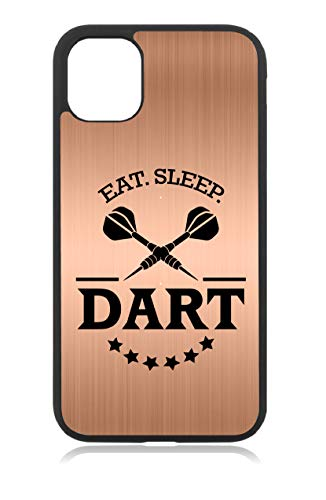 aina Kompatibel mit iPhone 11 Dart Dartscheibe Dartpfeile Rosegold Metallic Handyhülle Case Cover Hülle Silikon
