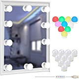 Vanity Lights Kit for Mirror, ZHENREN RGBW Colorful Hollywood Style LED Mirror Light for Make Up Lights with 10 Dimmable Bulb, USB Port, 1000LM Stick on for Vanity Set Dressing Room Bathroom