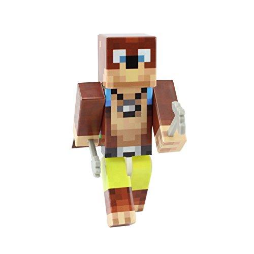 EnderToys Bear Miner Action Figure Toy, 10cm Custom Series Figurines