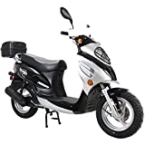 X-PRO Oahu 50cc Moped Scooter with 12' Aluminum Wheels Gas Moped...