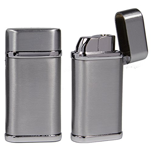 Bulentini Bulentini Sturmfeuerzeug Phoenix Turbo Feuerzeug Metall - Outdoor Jet Flame Torch Gas Lighter (Silver Satin) Silver Satin
