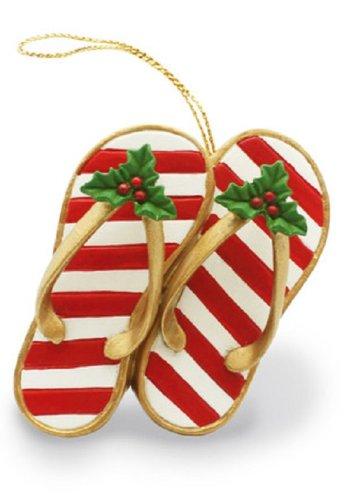 Island Heritage Festive Slippers Ornament