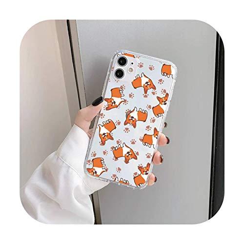Cute Corgi Butt Animal Funda para iPhone 11 12 Mini Pro XS MAX 8 7 6 6S Plus X 5S SE 2020 XR-a2-iphone7or8