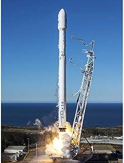 Space SpaceX Falcon 9 Rocket Launch Lift Off Impression sur toile de qualité supérieure Décoration murale