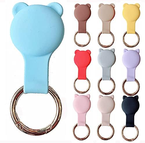 KURT HOME Premium Zubehör Anhänger Case GPS mit Motiv Hülle Soft Apple AirTag Holder Schlüsselanhänger Silikon für Kinder Mädchen Kleinkind Hund kaufen (BLAU TÜRKIS)
