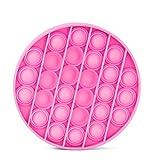 Minitichy Push Pop Bubble Sensory Fidget Toy, Pop Popit Pincez Sensorielle Jouet pour l'Autisme, Pousser Bubble Jouets -Détendez Votre Humeur, Anti-Stress- Gadgets Enfants et Adultes (A Hot Pink)