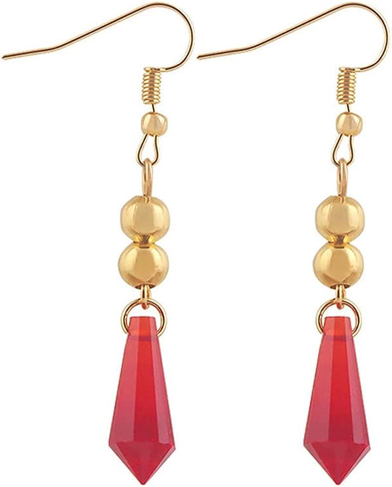 GDAMSTO Fashion Earrings Crystal Charms Dangle Clip On Hoop Earrings