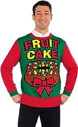 Forum Novelties Adult Fruit Cake Ugly Christmas Sweater