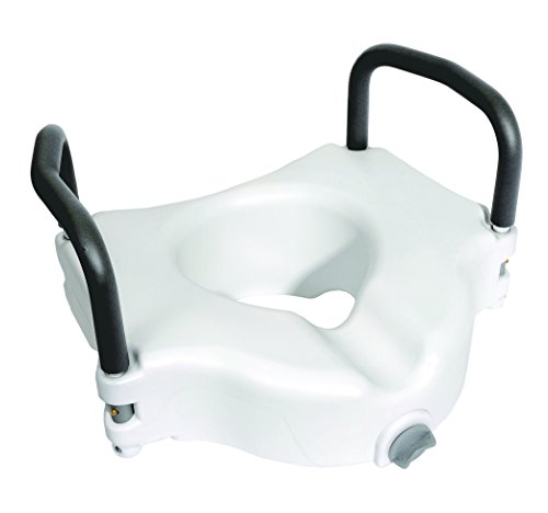 Essential Medical Supply Elevated Toilet Seat with Padded Removable Arms