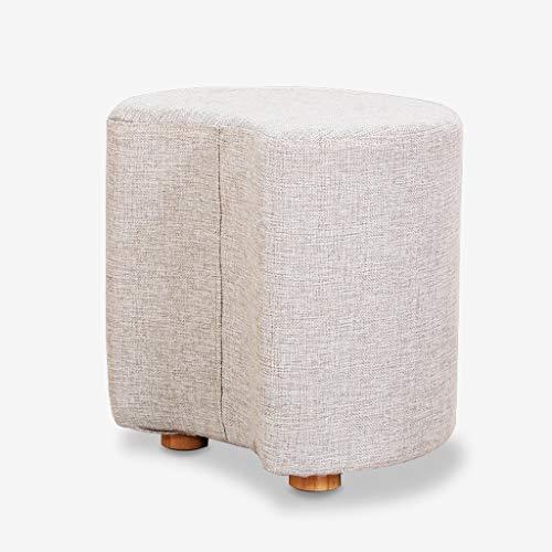 PXDZ1 Voetkruk Creatieve half maan vormige pudding bank kruk kubieke moderne kurk salontafel kruk stoel doek wasbare dikke voetbank volwassen make-up stoel