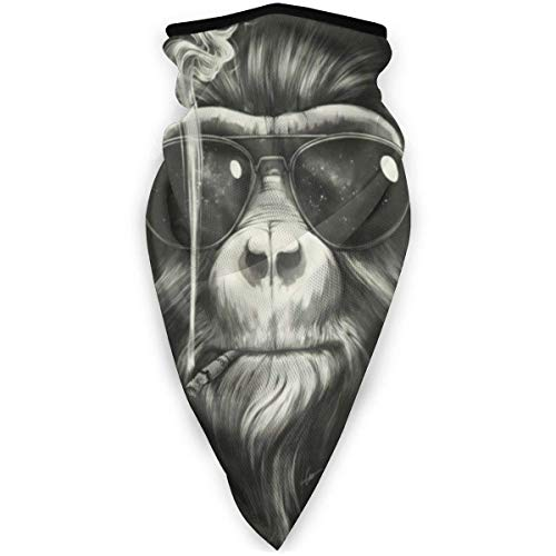Not Applicable Neck Scarf,Vintage Monkey Chimpanzee Head Scarf Magic for Ride Bandana Scarf 24x52cm