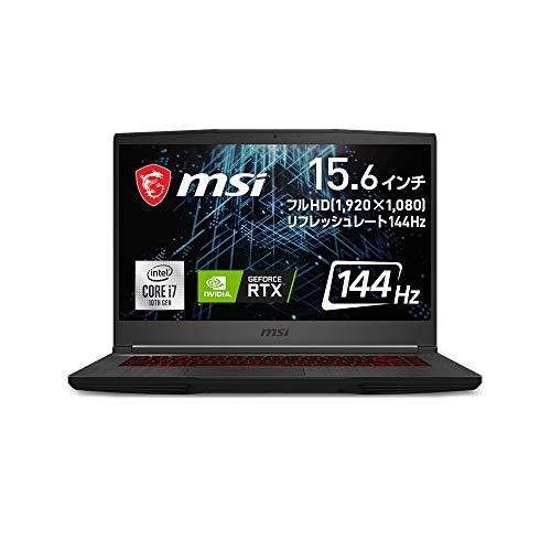 【NVIDIA最新RTX3060搭載・薄型・軽量】MSIゲーミングノートPC GF65 1.86Kg i7 RTX3060/15.6FHD/144Hz/16GB/512GB/GF65-10UE-017JP