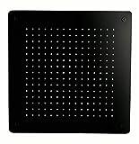 Tête de douche carrée, extra-plate en acier inoxydable DPG5005-50x50cm - noir