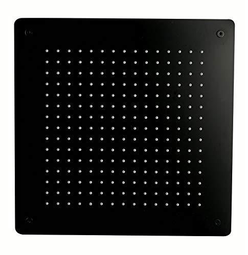 Doccia a pioggia XXL DPG5005 in acciaio inox super piatto in nero – 50 x 50 cm – incasso a soffitto