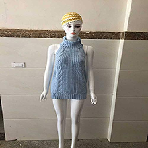 XIAOPENG Sexy Frauen Cosplay Backless Virgin Killer Sweater Bodysuit Bandage Hohl Japaner Strickpullover Und Pullover OneSize/Elfenbein