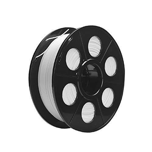 3d printer filament 3D printer filament, PETG transparent material Dimensional accuracy +/- 0.02mm, 0.5kg (1.1lb) bobbin, 1.75mm, white (Color : White)