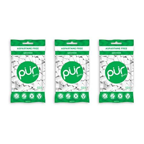 PUR Gum Spearmint, 55Count, 3 Pack