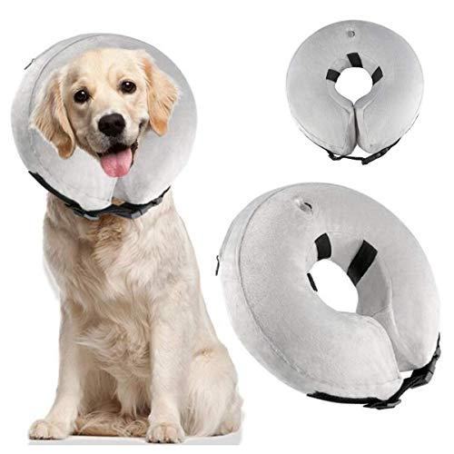 Aufblasbares Halsband für Hunde und Katzen, weiches Halsband mit verstellbarer Schnalle, ideal zur Erholung von Operationen oder Wunden, blockiert nicht die Sicht