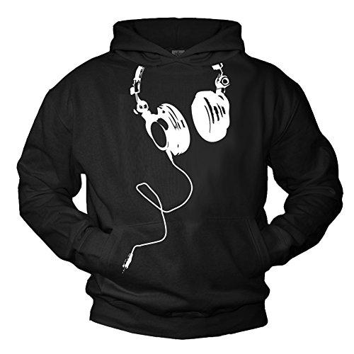 Sudadera Negra con Capucha - Musica - M