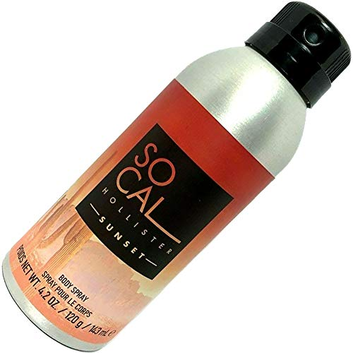 Hollister Mens SO CAL SUNSET Deodorant Body Spray 4.2oz / 143ml