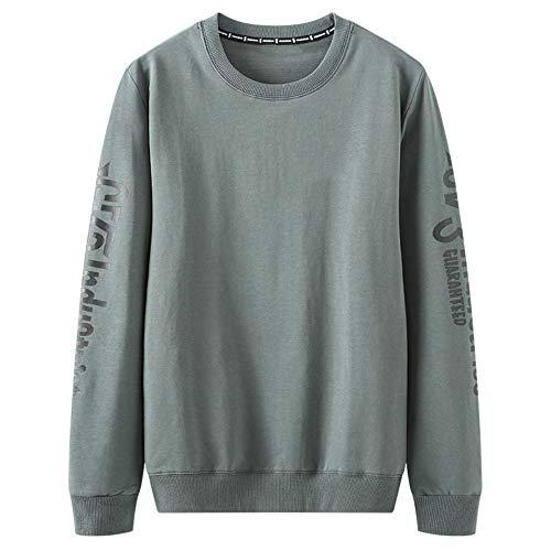U/A Jersey para hombre, manga larga, suelto, casual, para primavera y otoño Verde verde XXXXXL