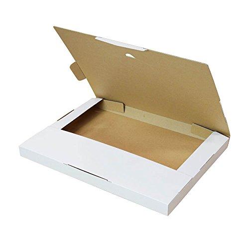 ボックスバンク クリックポスト・ゆうパケット ネコポス用ダンボール箱 A4 白【310×227×23mm】50枚セット FY04-0050