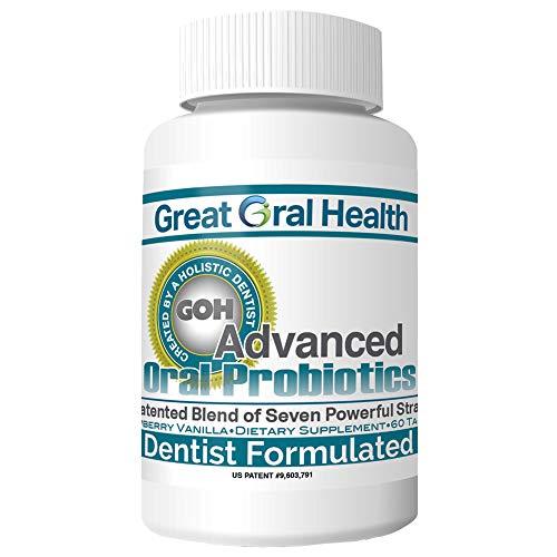 Chewable Oral Probiotics ~Dentist Formulated 60 Lozenge Bottle ~Attack Bad Breath, Cavities and Gum...