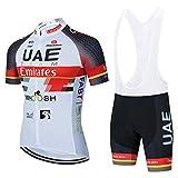 Maillots De Ciclismo Hombres Camiseta Y Pantalones Cortos De Ciclismo Conjunto De Ropa para Ciclismo Al Aire Libre (A-5,XXXL)