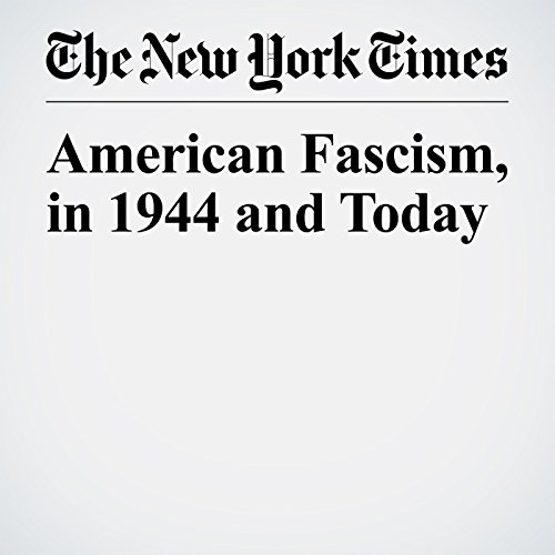 American Fascism, in 1944 and Today audiobook cover art