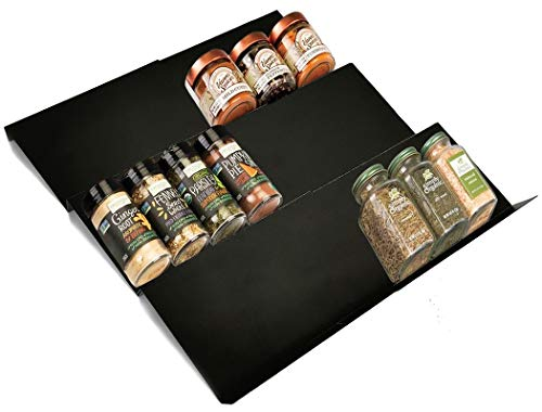 Artibear Expandable Spice Rack Drawer Organizer for Kitchen Cabinets, Set of 6