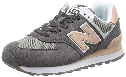 New Balance Damen WL574 B Sneaker, Grau (Grey Grey), 38 EU