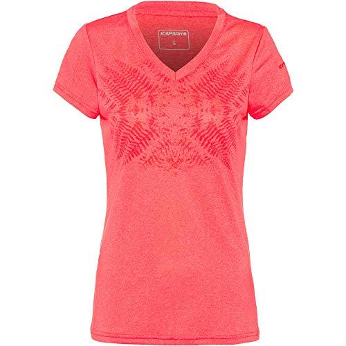 Icepeak Sumitra T-Shirt Women 54675 626 Größe L FB643 Coral red
