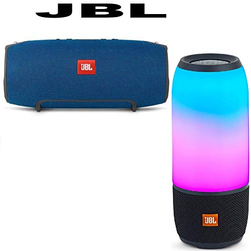 JBL Xtreme Portable Wireless Bluetooth Speaker (Blue) Pulse 3 Wireless Bluetooth IPX7 Waterproof Speaker (Black) Bundle