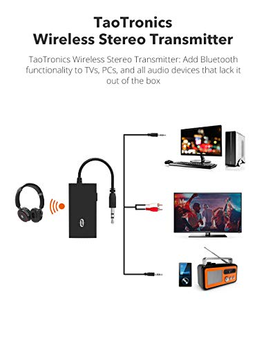 TaoTronics Wireless Portable Bluetooth Transmitter 4