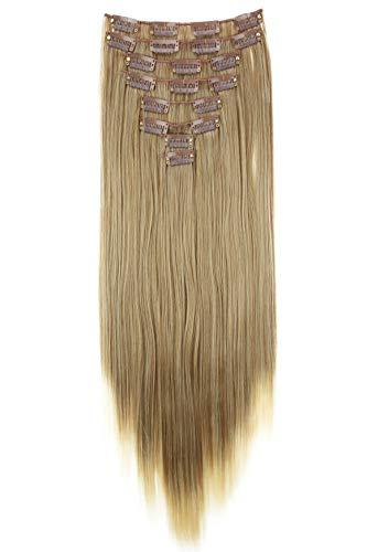 PRETTYSHOP XL 60cm 7 Teile Set CLIP IN EXTENSIONS Haarverlängerung Haarteil Glatt Ombré Braun Blond CE20