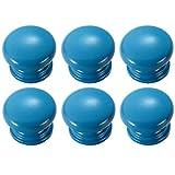 FBSHOP(TM) 6 pomos redondos de madera azul con forma de seta para cajones – tiradores de muebles de cocina, aparador, armario, cajón, tiradores