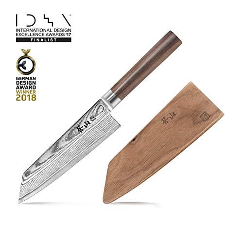 Cangshan J Series 62748 Japan VG-10 Steel Kiritsuke Knife With Walnut Sheath, 7-Inch