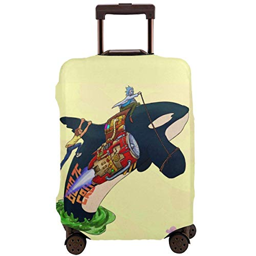Funda de Equipaje de Viaje Anime Dolphin Rick Morty Funda de Maleta Protector Protector de Equipaje Lavable Cubiertas de Equipaje
