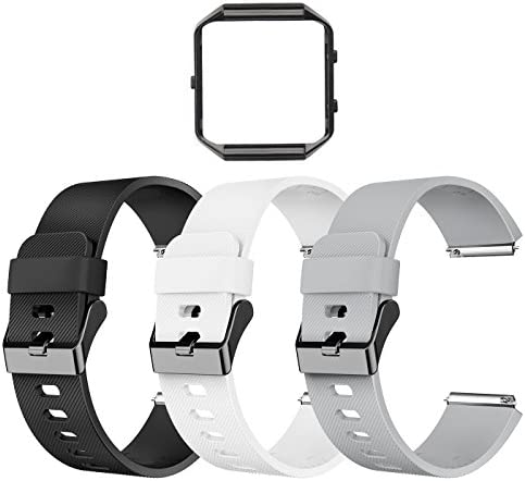 LEEFOX Compatible Fitbit Blaze Bands with Frame Sport Silicone Replacement Strap for Fitbit product image