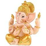 YARNOW Ganesha Elefante Dio Statua Indiano Ganesha Tavolo Scrivania Modello in Miniatura A...