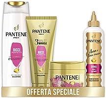 Pantene Pro-V Ricci Perfetti, Set Composto da Shampoo Capelli Ricci 225 ml, Balsamo Capelli 3Minute Miracle 150ml,...