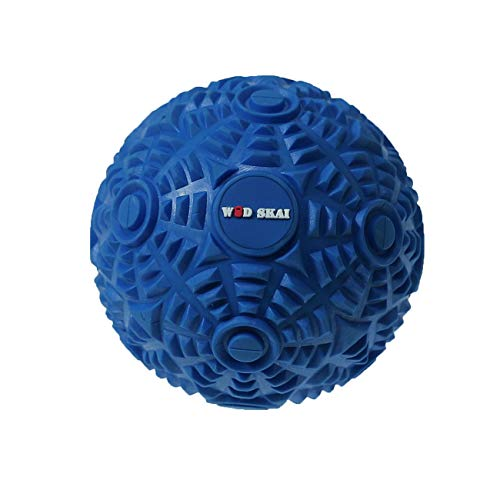 Muscle Massage Ball - WODSKAI Myofascial Release Ball for Trigger Point Massage - 4.72 inch Therapy Muscle Knots Lacrosse Ball, Yoga Therapeutics with Carrying Bag (Blue 12cm)