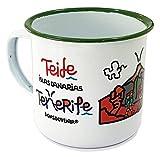 DONSOUVENIR Taza Metal Tenerife TEIDE Estilo Retro