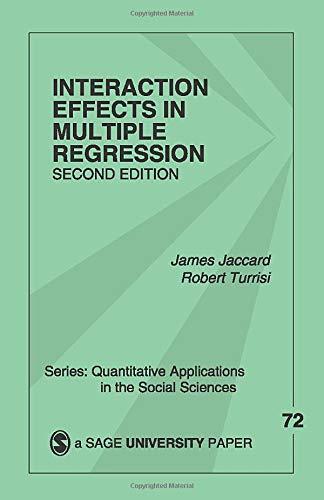 Interaction Effects in Multiple Regression (Quantitative...