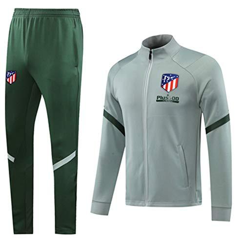 Conjunto de pantalones de fútbol de 2021 para entrenamiento de fútbol Atlětico Msdrid uniforme de competición de manga larga, ejercicio profesional XXL