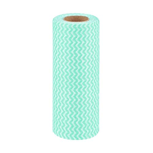 1 rollo de paños desechables de cocina no tejidos, a rayas, ecológicos,...