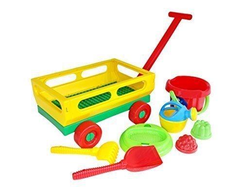 Wader Quality Toys Handwagen mit Eimergarnitur 8-TLG., (Set Nr.497)